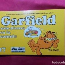 Cómics: GARFIELD SOLO PIENSA EN LA COMIDA. Nº 17. JUNIOR GRIJALBO. . Lote 195677567