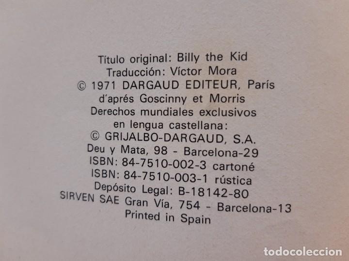 Cómics: LUCKY LUKE Nº 14 BILLY THE KID 1ª EDICIÓN - Foto 2 - 196294152
