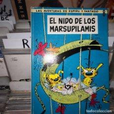 Comics : ESPIRU Y FANTASIO 8 EL NIDO DE LOS MARSUPILAMIS. SPIROU JAIMES LIBROS 1969. Lote 196593468
