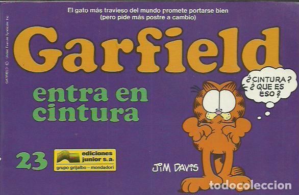 JIM DAVIS-GARFIELD 23.GARDFIELD ENTRA EN CINTURA.EDICIONES JUNIOR.1991. (Tebeos y Comics - Grijalbo - Otros)