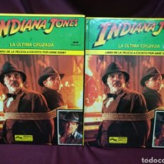 Cómics: 2 LIBROS IGUALES INDIANA JONES Y LA ÚLTIMA CRUZADA, EDICIONES JUNIOR. Lote 216833371