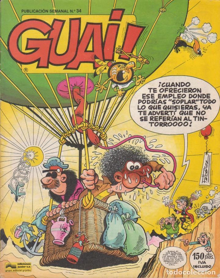 COMIC GUAI ! Nº 34 ED.JUNIOR (GRIJALBO) 1986 (Tebeos y Comics - Grijalbo - Otros)