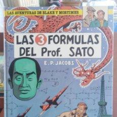 Cómics: LAS AVENTURAS DE BLAKE Y MORTIMER - LAS 3 FÓRMULAS DEL PROF. SATO - E. P. JACOBS. Lote 202743698
