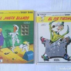 Comics: LUCKY LUKE, EL JINETE BLANCO Y EL PIE TIERNO, NÚMS 2 Y 4, GRIJALBO 1982. Lote 202765417