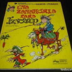 Cómics: UNA ZANAHORIA PARA IZNOGUD LAS AVENTURAS DEL CALIFA HARUN EL PUSSAH. 1. Lote 204363163