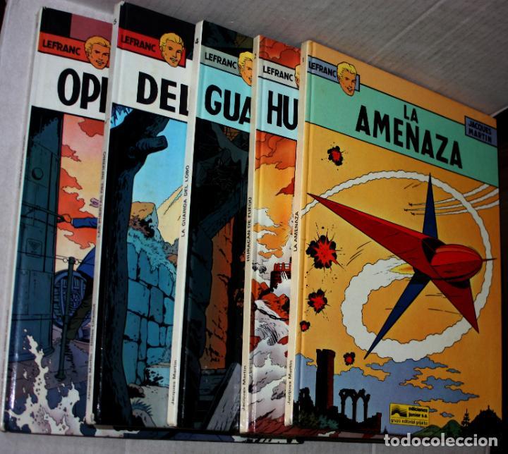 LEFRANC (JUNIOR, 1986-1987) DE JACQUES MARTIN Y CHAILLET. NºS 01,02,04,05 Y 06.(1ª EDICIÓN) (Tebeos y Comics - Grijalbo - Lefranc)