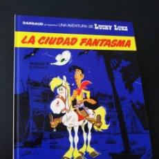 Cómics: CASI EXCELENTE ESTADO LUCKY LUKE 38 LA CIUDAD FANTASMA GRIJALBO TAPA DURA. Lote 204767225