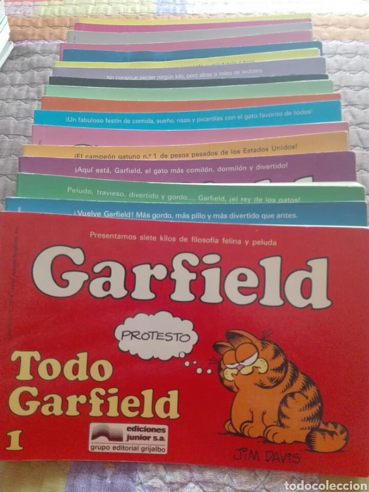 Cómics: Lote 19 numeros garfield. Junior grijalbo. Buen estado. - Foto 2 - 205548685