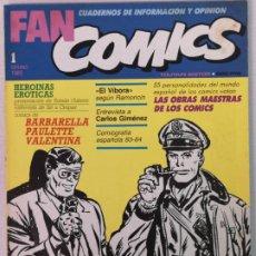 Cómics: FAN COMICS N°1 1985. Lote 205551886