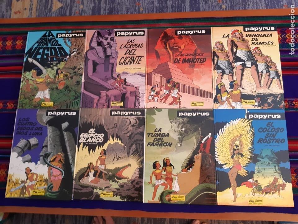 NUEVOS, PAPYRUS 3 4 5 6 7 8 9 10 COMPLETA. JUNIOR GRIJALBO 1989. (Tebeos y Comics - Grijalbo - Papyrus)