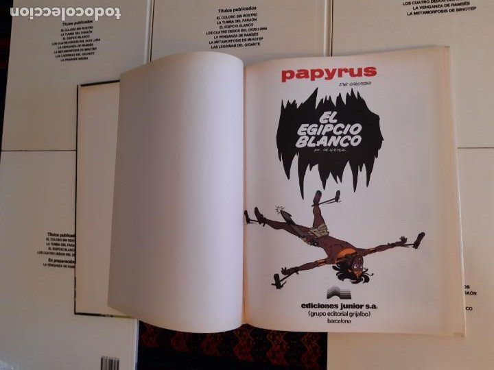 Cómics: NUEVOS, PAPYRUS 3 4 5 6 7 8 9 10 COMPLETA. JUNIOR GRIJALBO 1989. - Foto 3 - 206248207