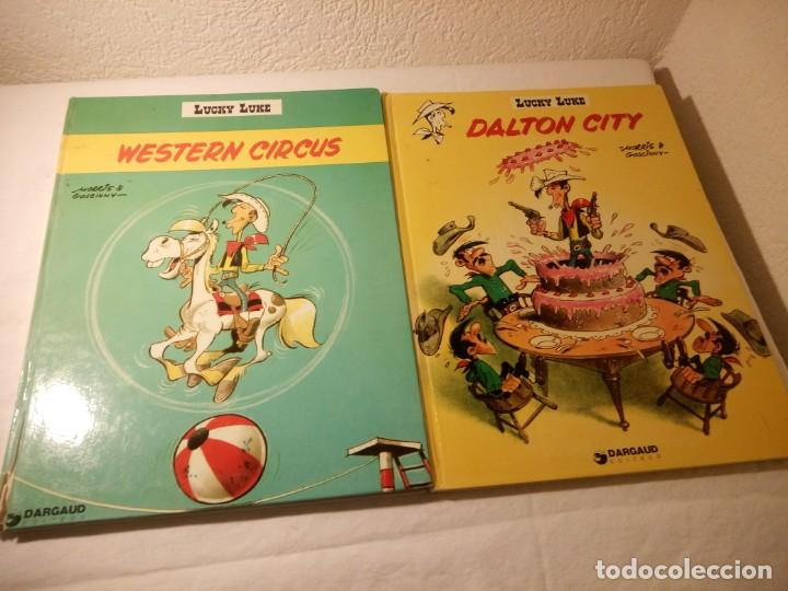 LOTE DE 2 TEBEOS LUCKY LUKE DALTON CITY, WESTERN CIRCUS, DARGAUD 1970/77 (Tebeos y Comics - Grijalbo - Lucky Luke)
