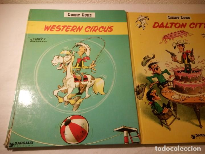 Cómics: Lote de 2 tebeos lucky luke dalton city, western circus, dargaud 1970/77 - Foto 2 - 206391631