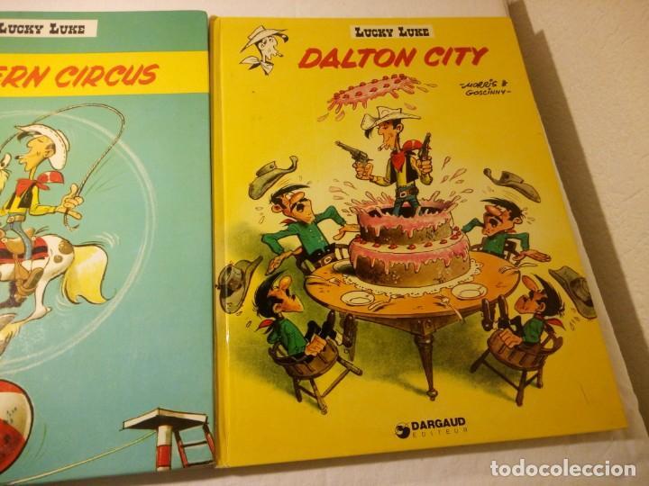 Cómics: Lote de 2 tebeos lucky luke dalton city, western circus, dargaud 1970/77 - Foto 3 - 206391631