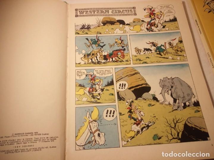 Cómics: Lote de 2 tebeos lucky luke dalton city, western circus, dargaud 1970/77 - Foto 10 - 206391631