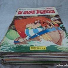 Cómics: MAGNIFICO LOTE TEBEOS COMIC ASTERIX PILOTE EDITORIAL BRUGUERA 9 TOMOS AÑOS 70 CON DEFECTOS. Lote 206484863