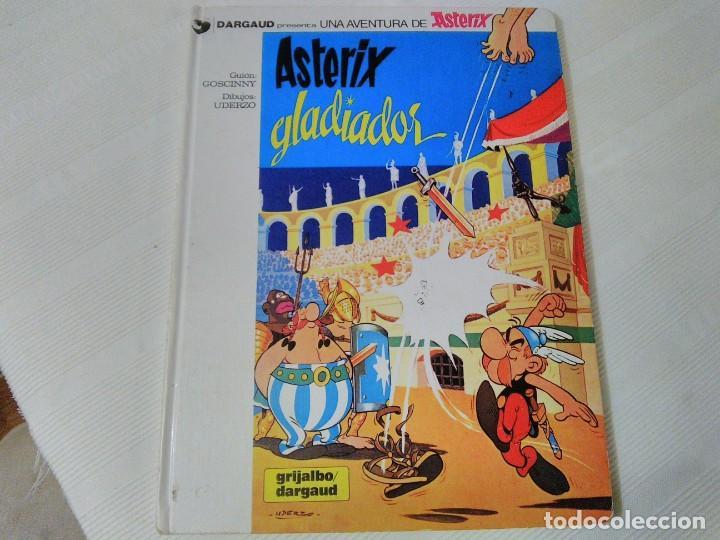 Cómics: Comic Astérix Gladiador. 1.980. Tapa dura. - Foto 3 - 208839140