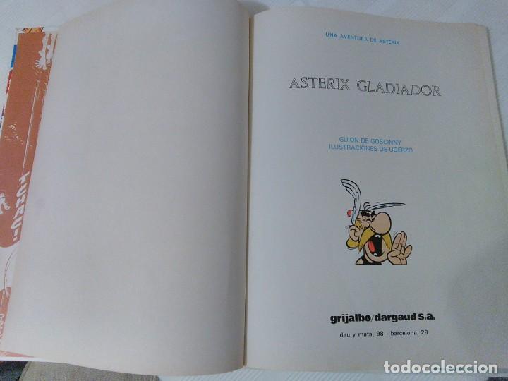 Cómics: Comic Astérix Gladiador. 1.980. Tapa dura. - Foto 7 - 208839140