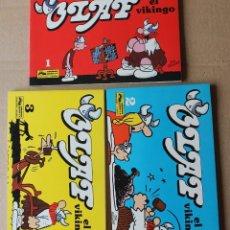 Cómics: OLAF EL VIKINGO NºS 1 2 3 COMPLETA - DIK BROWNE - JUNIOR / GRIJALBO 1991 - MUY BUEN ESTADO. Lote 208910707