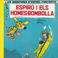Cómics: COMIC COLECCIO LES AVENTURES D'ESPIRU I FANTASTIC CARTONE ESPIRU I ELS HOMES-BOMBOLLA. Lote 209237155
