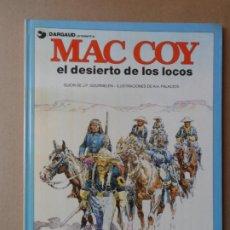Cómics: MAC COY Nº 14 EL DESIERTO DE LOS LOCOS GOURMELEN Y PALACIOS - EDITORIAL GRIJALBO DARGAUD TAPA DURA. Lote 209359683