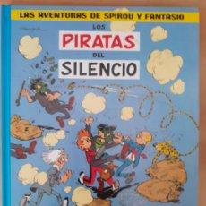 Cómics: LOS PIRATAS DEL SILENCIO Y EL SÚPER QUICK; LAS AVENTURAS DE SPIROU Y FANTASIO - FRANQUIN - TAPA DURA. Lote 209988480
