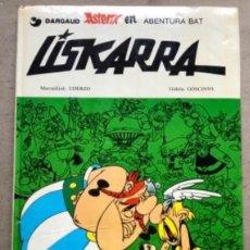 Cómics: LISKARRA ASTERIX-EN ABENTURA BAT. UDERZO ETA GOSCINNY. GRIJALBO/DARGAUD 1981. EUSKARAZ.. Lote 210979732