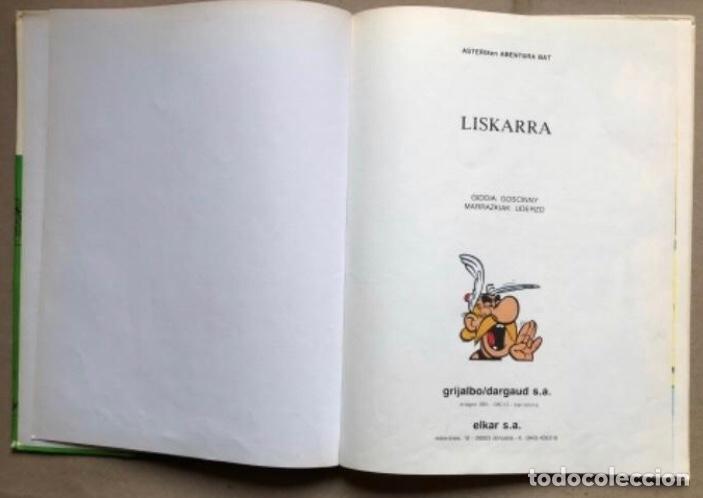 Cómics: LISKARRA ASTERIX-EN ABENTURA BAT. UDERZO ETA GOSCINNY. GRIJALBO/DARGAUD 1981. EUSKARAZ. - Foto 2 - 210979732