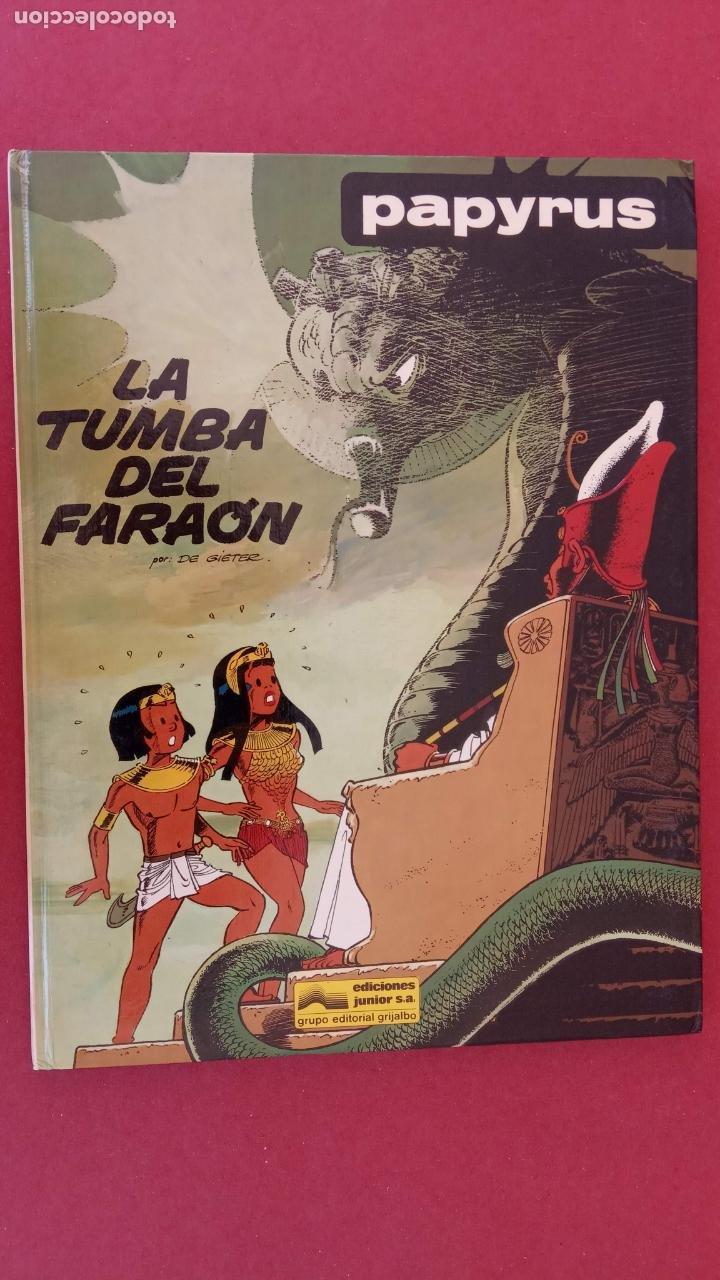 Cómics: PAPYRUS Nº 4 - LA TUMBA DEL FARAÓN por DE GIETER - 1988 EDICIONES JUNIOR - TAPA DURA, MUY BIEN - Foto 2 - 121347455