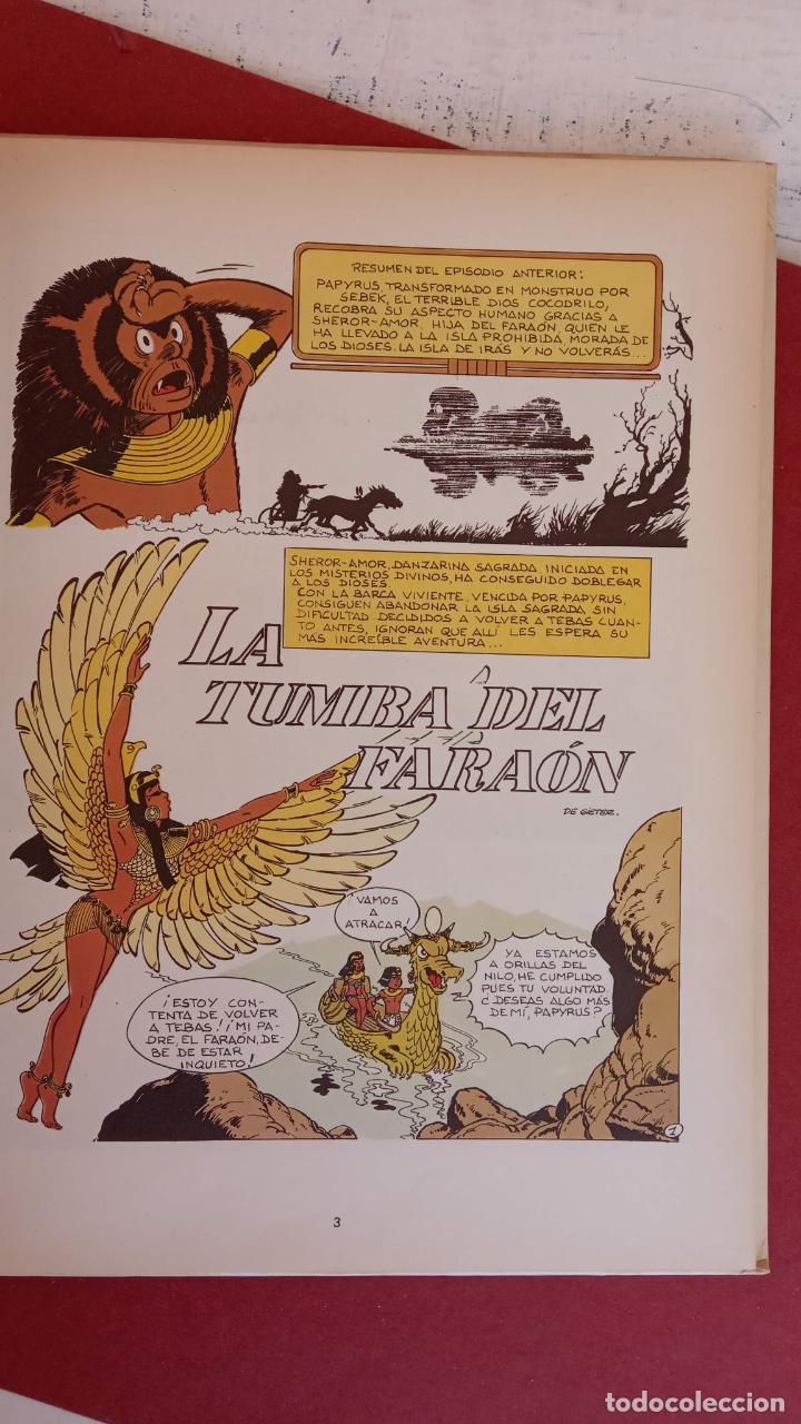 Cómics: PAPYRUS Nº 4 - LA TUMBA DEL FARAÓN por DE GIETER - 1988 EDICIONES JUNIOR - TAPA DURA, MUY BIEN - Foto 4 - 121347455