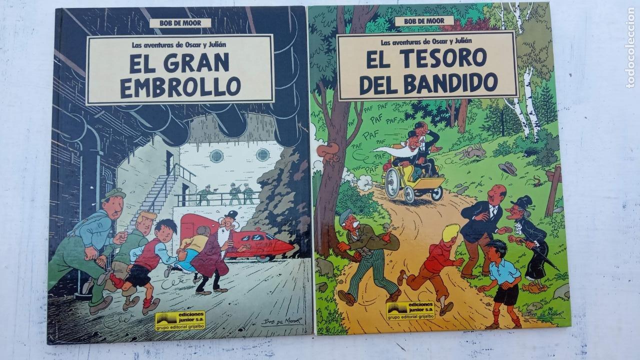 BOB DE MOOR - LAS AVENTURAS DE OSCAR Y JULIAN NºS 1 Y 2 - NUEVOS 1ª EDICIÓN 1988 GRIJALBO (Tebeos y Comics - Grijalbo - Otros)