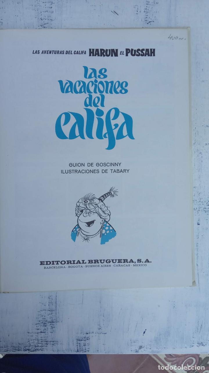 Cómics: PILOTE BRUGUERA 1971 - IZNOGUD - LAS VACACIONES DEL CALIFA -LAS AVENTURAS DEL CALIFA HARUN EL PUSSAH - Foto 4 - 211516191
