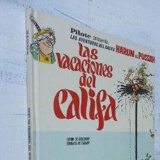 Cómics: PILOTE BRUGUERA 1971 - IZNOGUD - LAS VACACIONES DEL CALIFA -LAS AVENTURAS DEL CALIFA HARUN EL PUSSAH. Lote 211516191