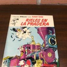 Cómics: LUCKY LUKE EDT. BRUGUERA RIELES EN LA PRADERA 1974 B.E.. Lote 211685349