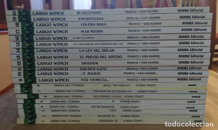 Cómics: LARGO WINCH - EDICIONES JUNIOR (GRIJALBO) - NORMA EDITORIAL / NÚMEROS 1 A 20 - Foto 2 - 212181901