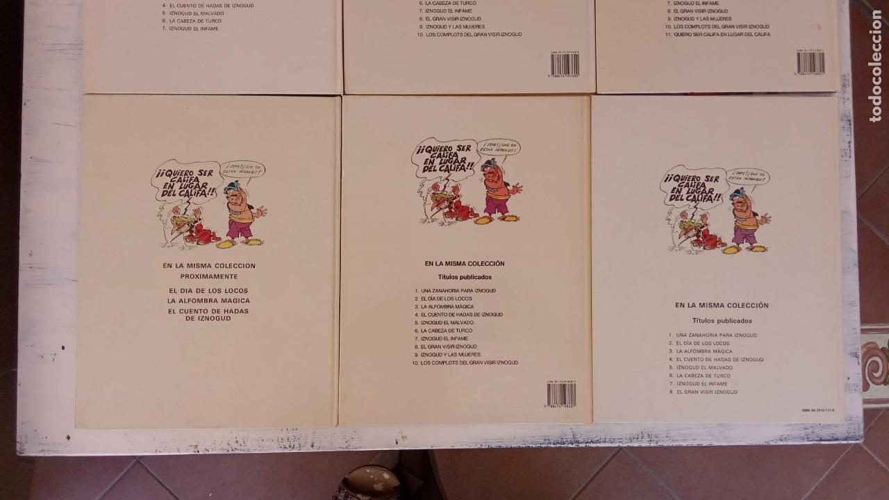 Cómics: LAS AVENTURAS DEL GRAN VISIR IZNOGUD - CALIFA HARUN EL PUSSAH - 1,4,5,7,9,11,12,14,15 - DARGAUD - Foto 11 - 212260527