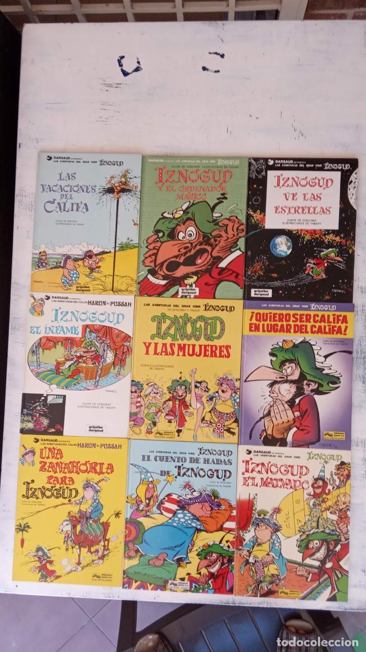 LAS AVENTURAS DEL GRAN VISIR IZNOGUD - CALIFA HARUN EL PUSSAH - 1,4,5,7,9,11,12,14,15 - DARGAUD (Tebeos y Comics - Grijalbo - Iznogoud)