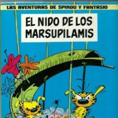 Cómics: FRANQUIN - SPIROU Nº 10, EL NIDO DE LOS MARSUPILAMIS, JUNIOR 1982, 1ª ED., CON EL RARO LOMO AMARILLO. Lote 212330788