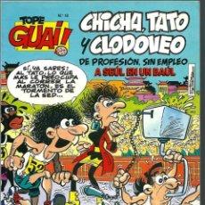 Cómics: TOPE GUAI Nº 18 - CHICHA, TATO Y CLODOVEO, DE IBAÑEZ - A SEUL EN UN BAUL - TEBEOS SA 1988. Lote 212333470