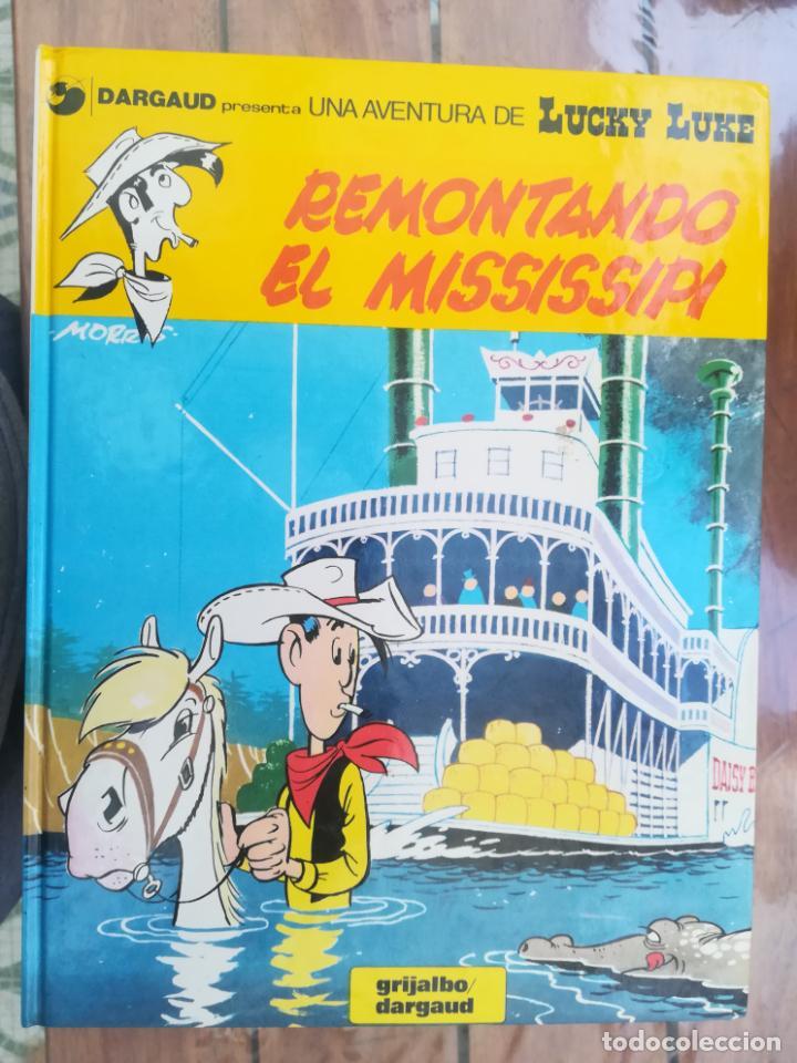 LUCKY LUKE. REMONTANDO EL MISSISSIPI. GRIJALBO. TAPA DURA (Tebeos y Comics - Grijalbo - Lucky Luke)