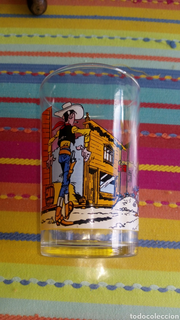 VASO DE CRISTAL LUCKY LUKE DALTON PARÍS FRANCIA 1972 INEDITO EN TC , (Tebeos y Comics - Grijalbo - Lucky Luke)