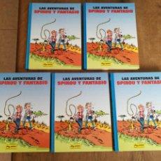 Comics : LAS AVENTURAS DE SPIROU Y FANTASIO. 5 TOMOS. ETAPA DE FRANQUIN COMPLETA. Lote 213025943