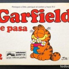 Comics: GARFIELD 12 SE PASA JIM DAVIS JUNIOR GRIJALBO BUEN ESTADO. Lote 213688831