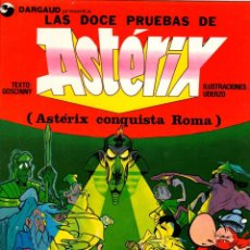 Comics : LAS DOCE PRUEBAS DE ASTERIX. ASTERIX CONQUISTA ROMA. EL LIBRO SOBRE LA PELICULA. GRIJALBO, 1989. Lote 213689585