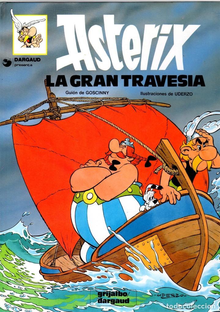ASTERIX. LA GRAN TRAVESIA. Nº 22. GRIJALBO / DARGAUD. CARTONÉ. AÑO 1991 (Tebeos y Comics - Grijalbo - Asterix)