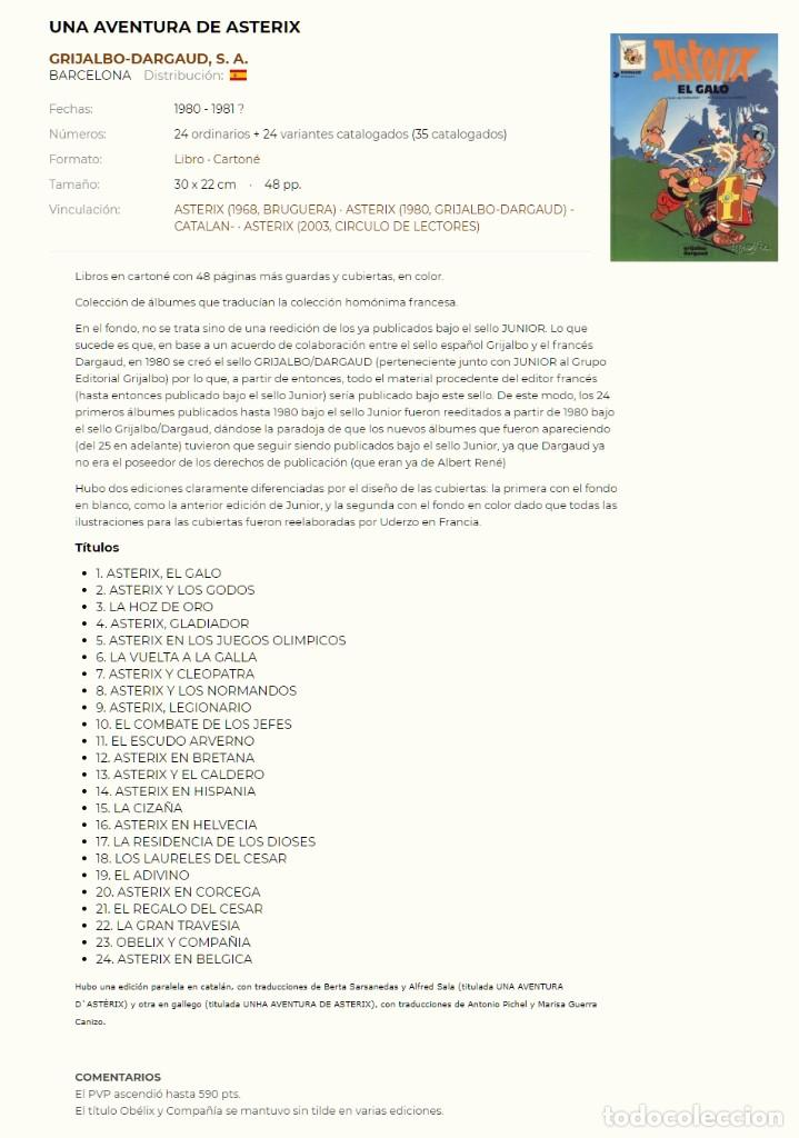 Cómics: Asterix. El regalo del Cesar. Albert Uderzo. Rene Goscinny. Grijalbo 1980. Tapa dura - Foto 2 - 193891137
