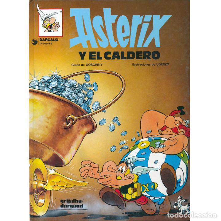 ASTERIX Y EL CALDERO. ALBERT UDERZO. RENE GOSCINNY. GRIJALBO 1980. TAPA DURA (Tebeos y Comics - Grijalbo - Asterix)