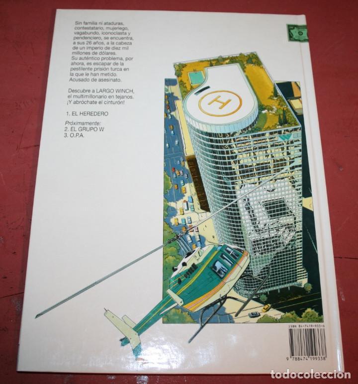 Cómics: LARGO WINCH - EL HEREDERO - FRANQ/VAN HAMME - ED. GRIJALBO - 1992 - Foto 4 - 214150862