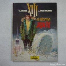 Cómics: XIII N.º 6. EL INFORME JASON FLY - W. VANCE Y J. VAN HAMME - GRIJALBO/DARGAUD - 1990. Lote 214272943