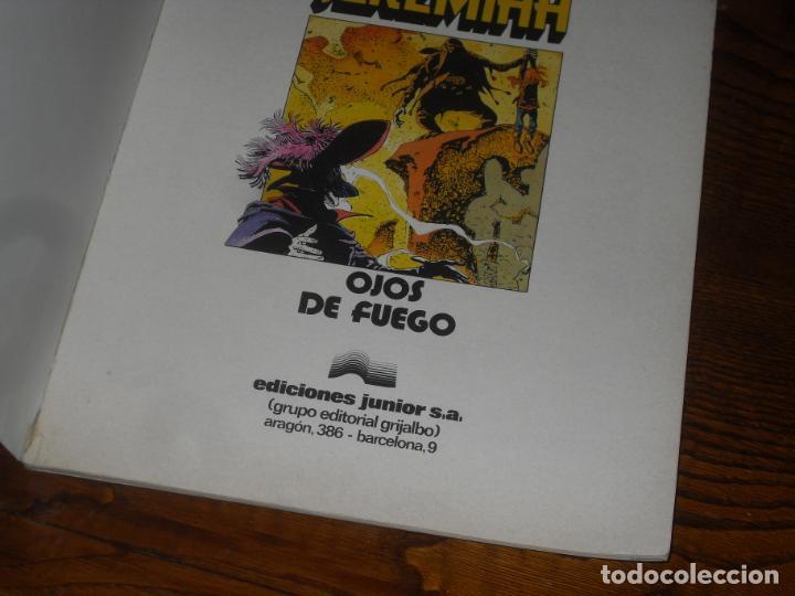 Cómics: JEREMIAH Nº 4. OJOS DE FUEGO. EDICIONES JUNIOR GRIJALBO. 1981. TAPA RUSTICA - Foto 2 - 215027720